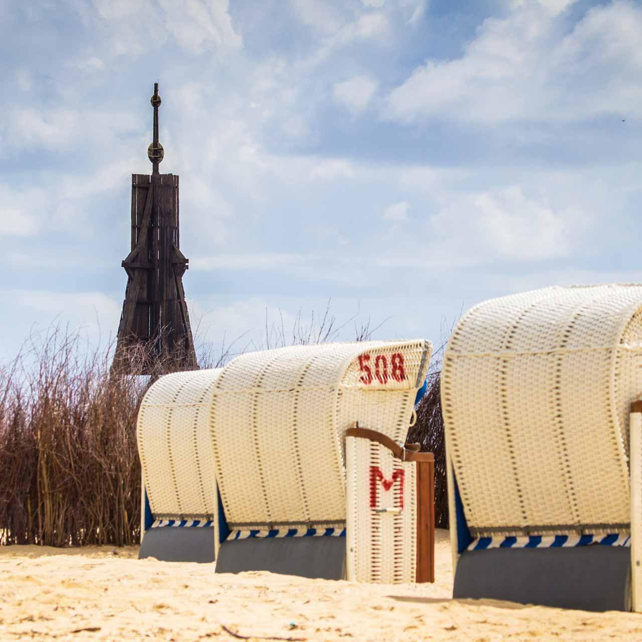 Strandkörbe in Cuxhaven an der Nordsee