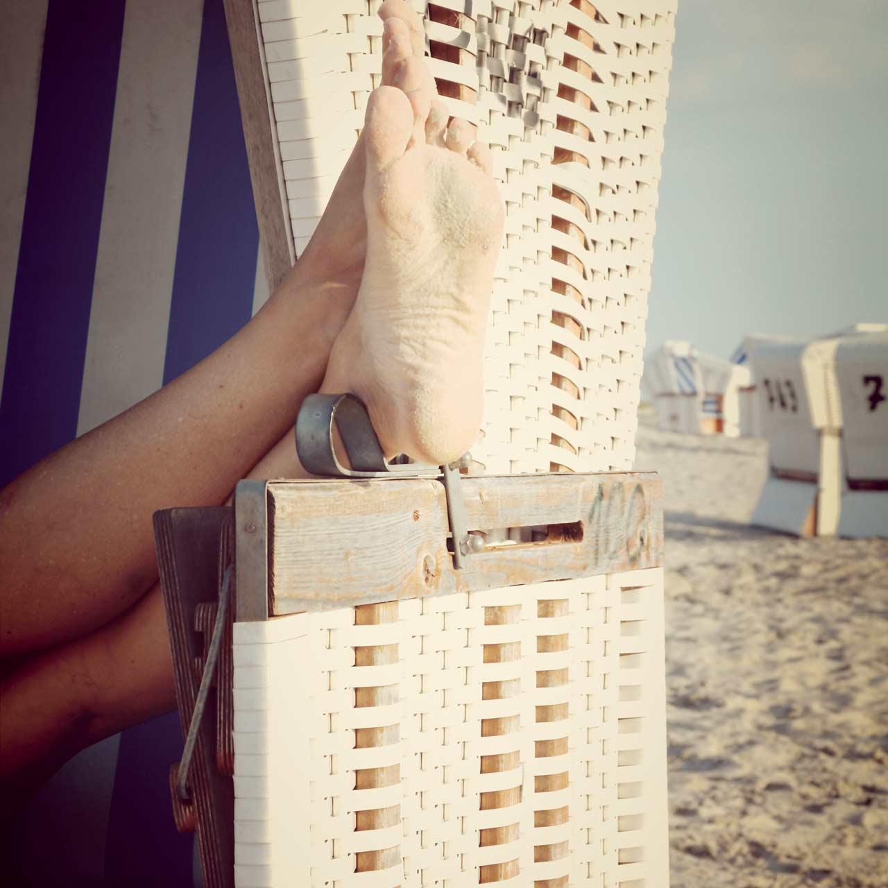 Urlaub in Deutschland: Wellness im Strandkorb