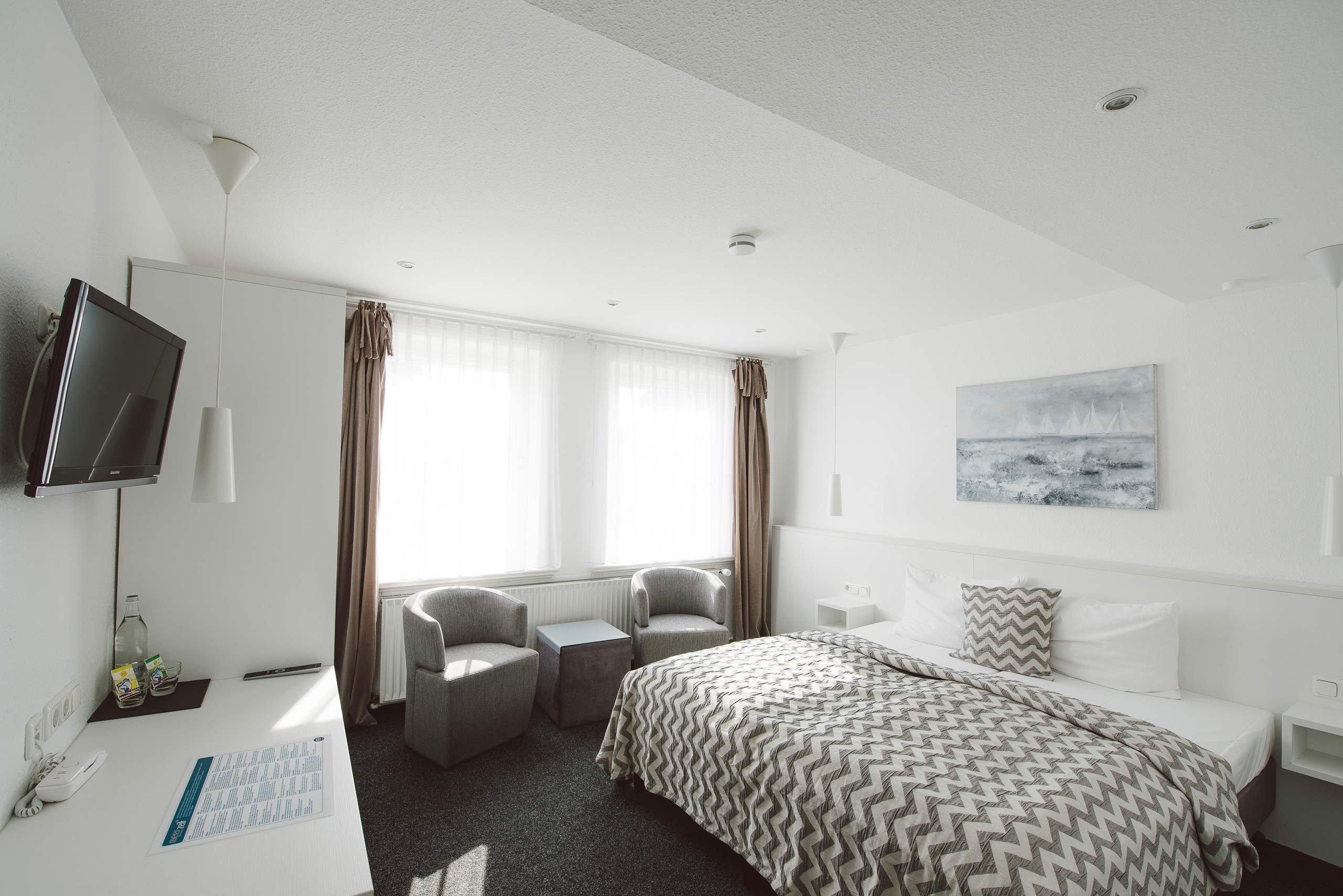 M-Zimmer: Die großzügigen Doppelzimmer im meerzeit Hotel in Cuxhaven