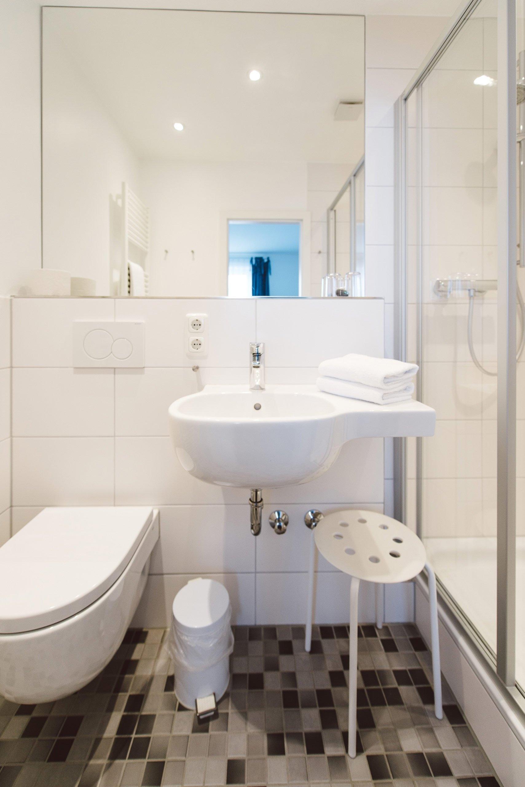 Badezimmer im meeerzeit Hotel in Cuxhaven